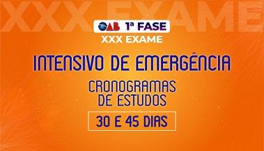 Curso OAB Intensivo 1ª fase XXX Exame - Emergência