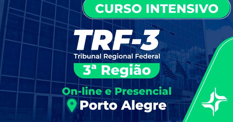 Curso Intensivo TRF 3ª Região - Analista e Técnico Judiciário - Edital 2019