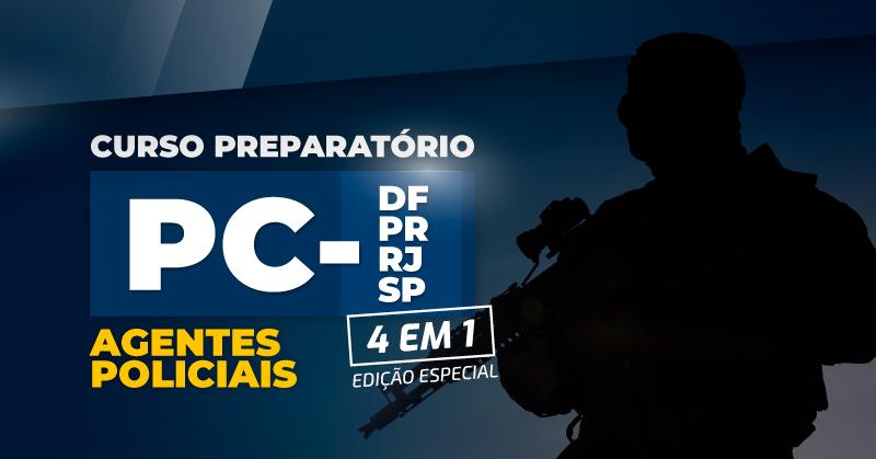 Carreiras Policiais: Agentes Policiais - Edição Especial (DF, PR, RJ e SP)