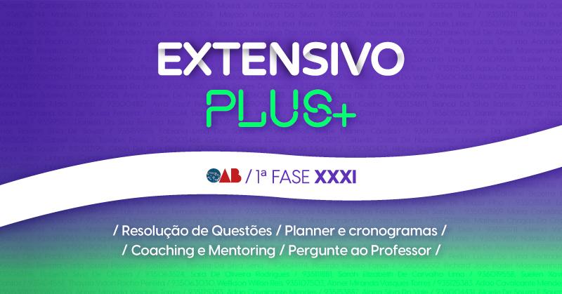 Curso OAB Extensivo 1ª Fase XXXI Exame - Plus